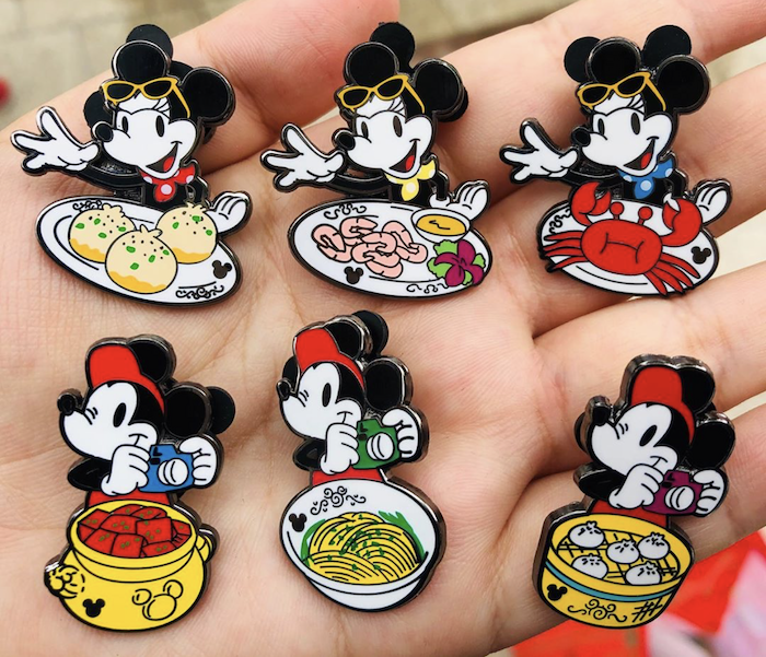 Mickey & Minnie Food Series Hidden Mickey Pin Set