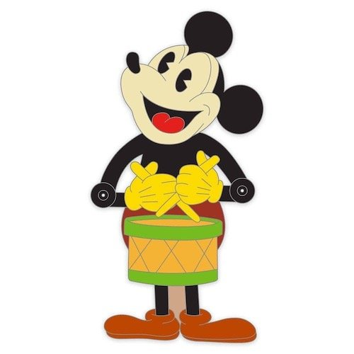 Mickey Mouse Drummer Retro Toy Pin
