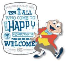 Mr. Toad Disneyland 65th Passholder Pin