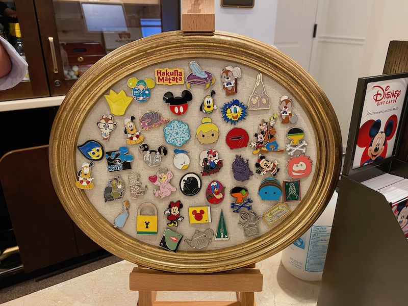Pin Trading Board at Disney's Riviera Resort