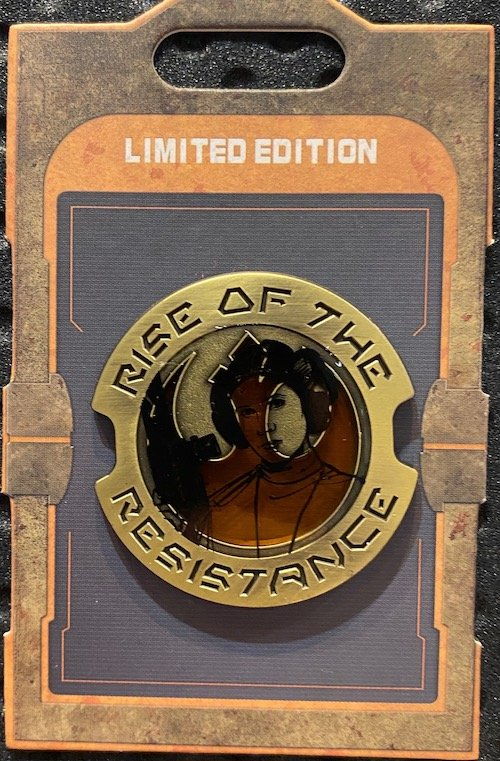 Princess Leia Rise of the Resistance Star Wars Galaxy's Edge Pin