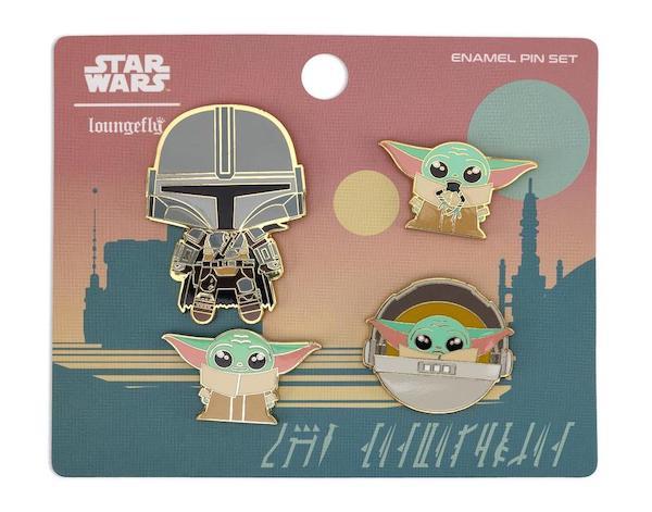 Star Wars The Mandalorian Loungefly Pin Set