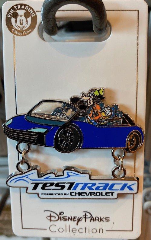 Test Track Mickey Goofy Donald Pin