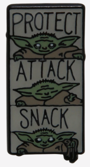 The Child Protect, Attack, Snack Pin