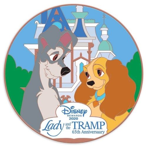 The Lady and the Tramp 65th Anniversary Disney Visa Cardmember Pin