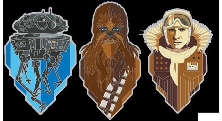 Star Wars Celebration 2020 Pin Set 3: Empire Strikes Back 40th Anniversary 3-Pack