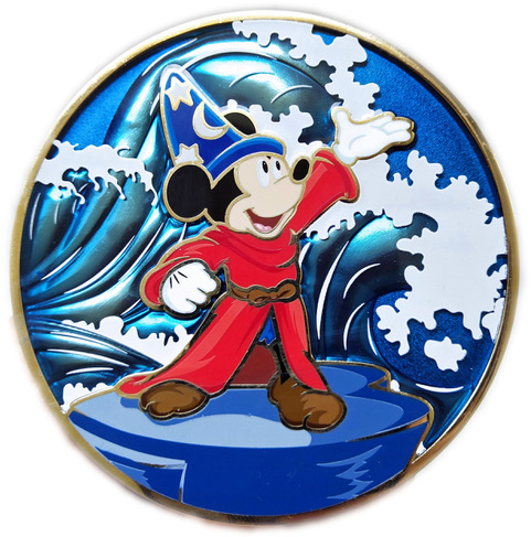 """Conducting Mickey """"E"""" Fine Art Pin"""