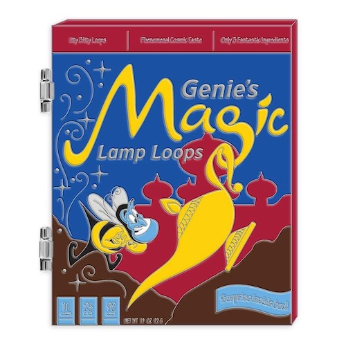 Genie Cereal Boxes Disney Pin