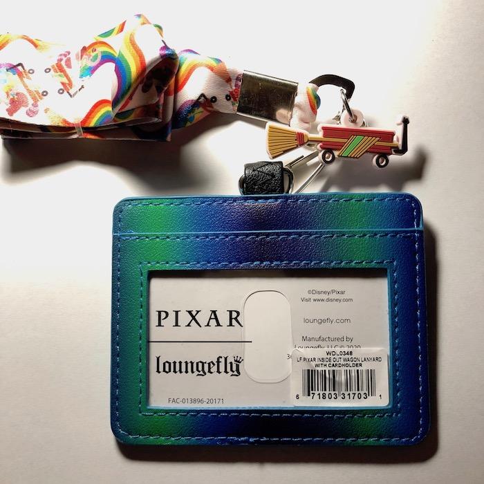 Back of Disney Pixar Inside Out Loungefly Cardholder Lanyard