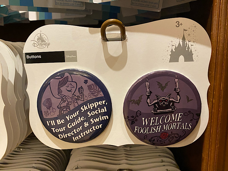 Jungle Cruise and Haunted Mansion Disney Button Set