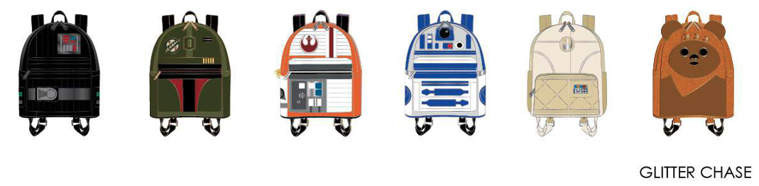Loungefly Star Wars Backpack Mystery Pins