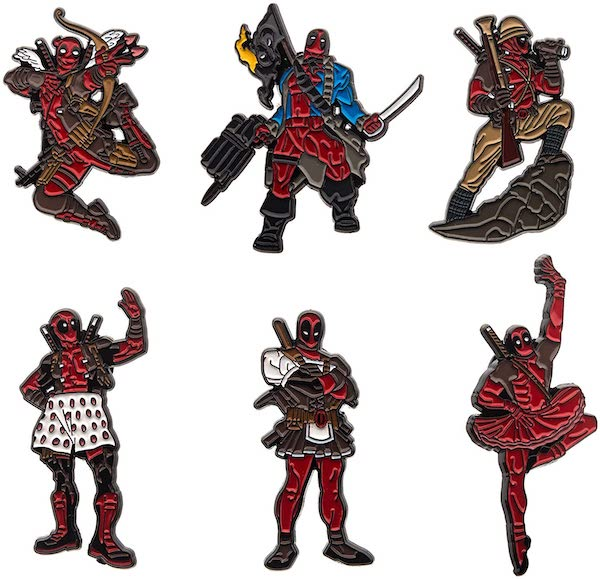 Marvel Deadpool Enamel Six Pin Set
