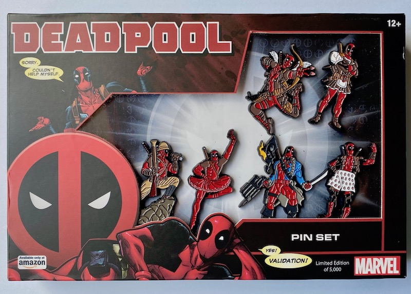 Marvel Deadpool Six Pin Set on Amazon