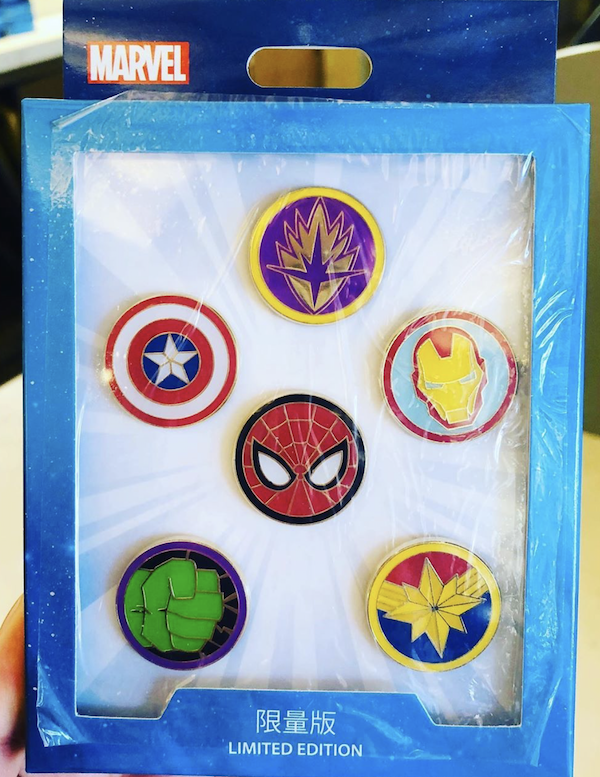 Marvel Emblems Limited Edition Shanghai Disney Pins