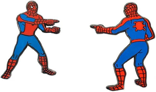 Marvel Spider-Man Double Identity Enamel 2 Pin Set