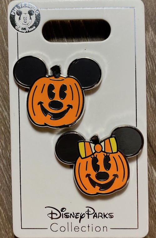 Mickey & Minnie Pumpkin Halloween 2020 Pin Set