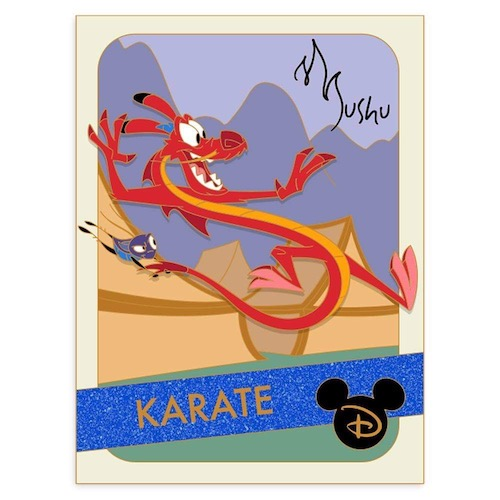 Mushu Karate Trading Cards Pin