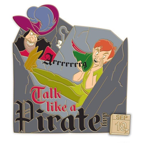 National Talk Like A Pirate Day Celebrate Today Disney Pin