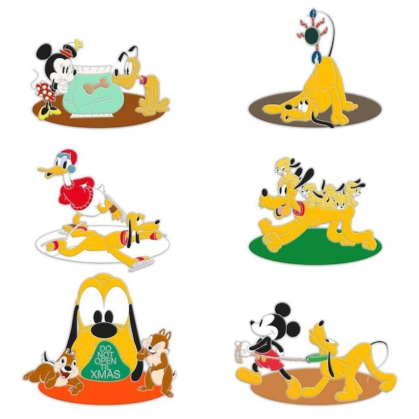 Pluto 90th Anniversary Mystery Pin Pack 1