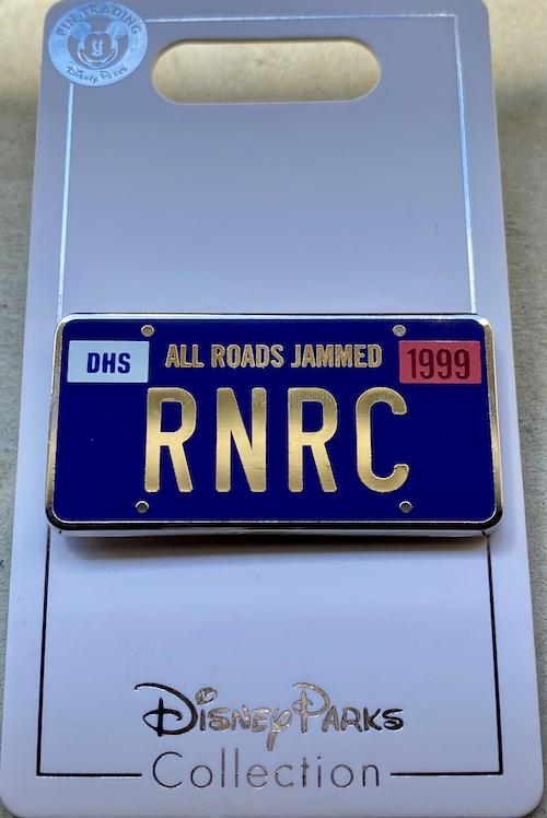 Rock 'n' Roller Coaster License Plate Pin