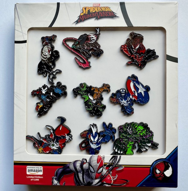 Spider-Man Maximum Venom Marvel Pin Set