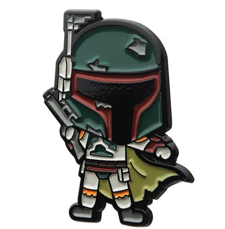 Star Wars Boba Fett Chibi Disney Pin