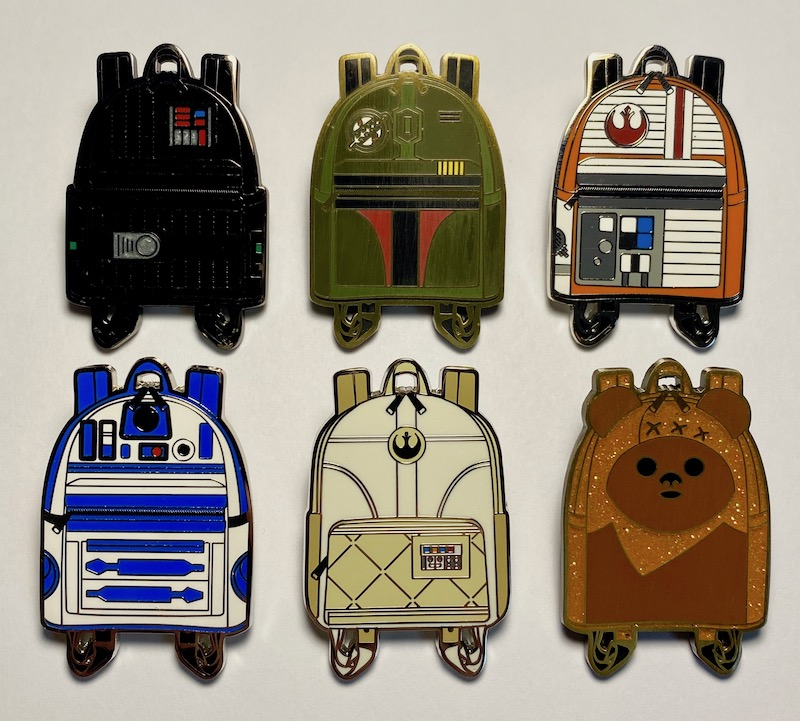 Star Wars Loungefly Backpack Pin Set