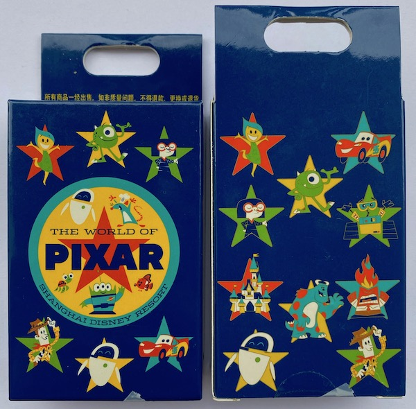 The World of Pixar Mystery Pin Set at Shanghai Disney Resort