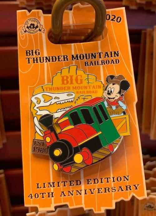 Big Thunder Mountain Railroad 40th Anniversary Disney Pin