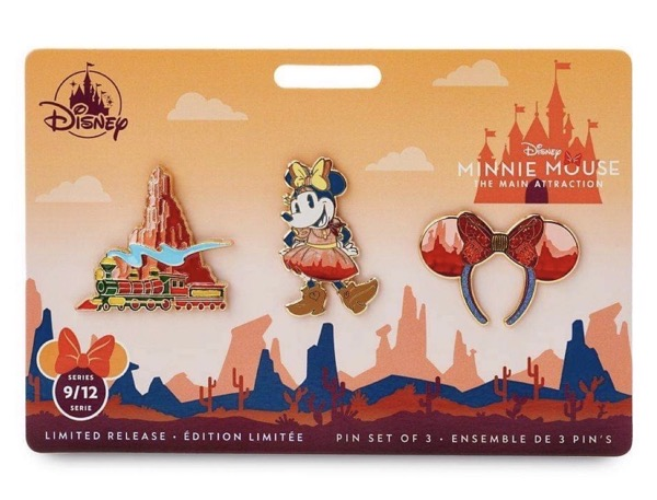 Big Thunder Mountain Railroad - Minnie Mouse The Main Attraction Pin Set