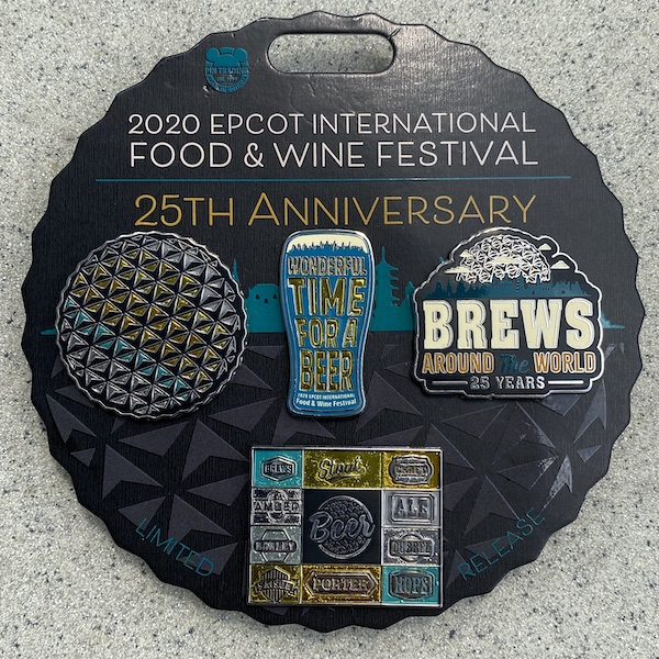 Brews Around the World Epcot 2020 Pin Set