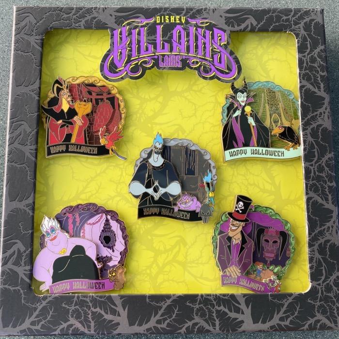 Disney Villains Lairs Halloween 2020 Pin Set
