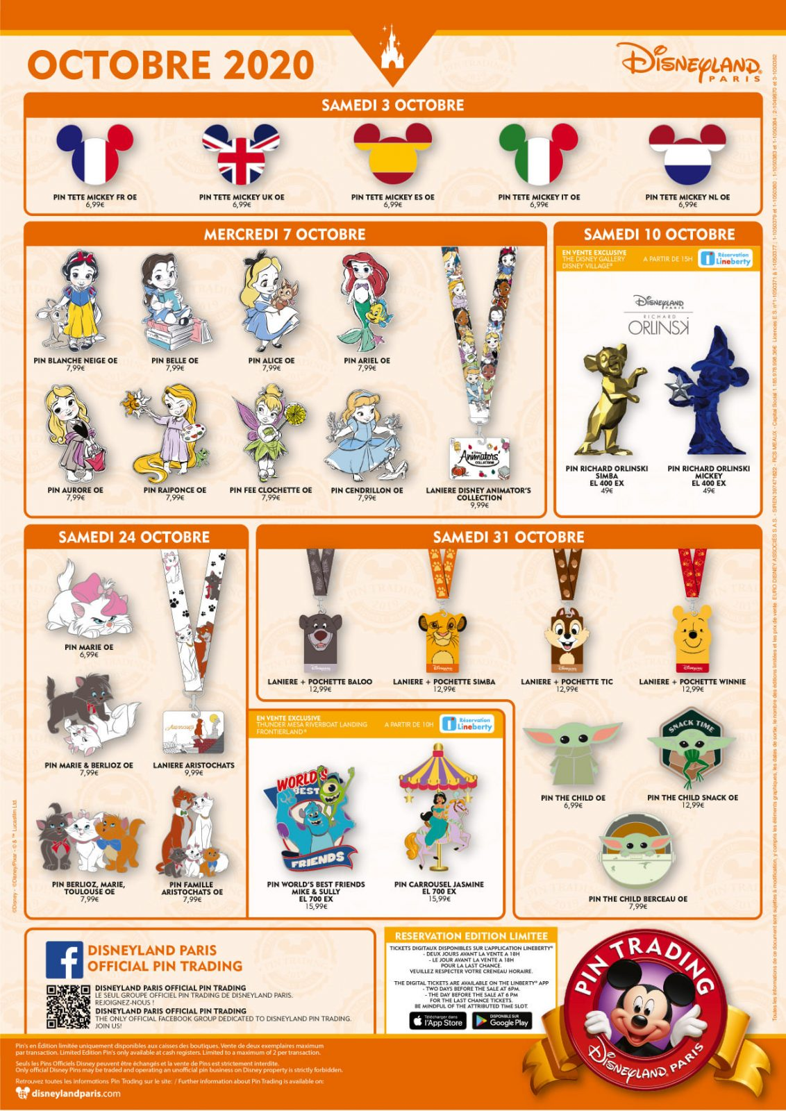 Disneyland Paris October 2020 Pins