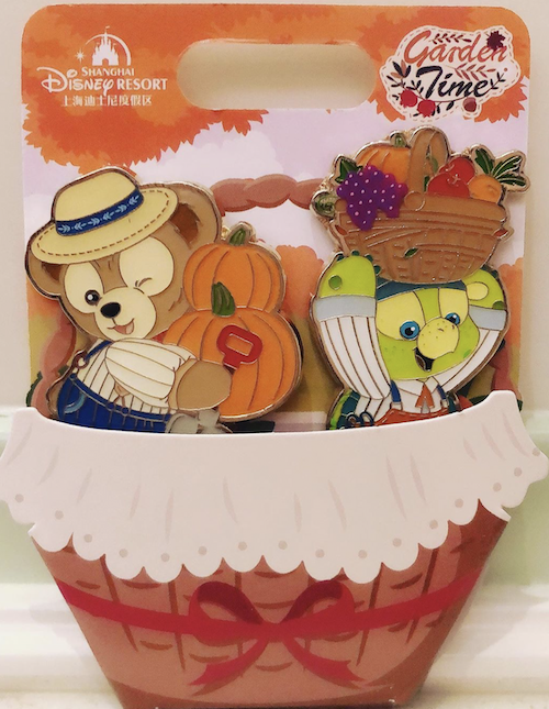 Duffy Bear & Olu - Garden Time 2020 Shanghai Disney Pin