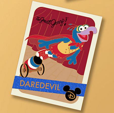 Gonzo Daredevil Trading Cards Pin