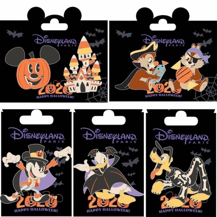 Halloween 2020 Disneyland Paris Pins