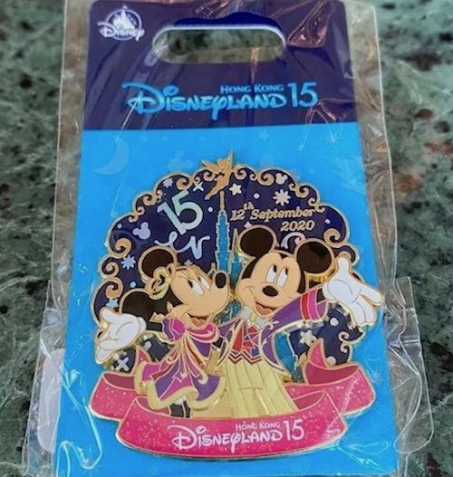 Hong Kong Disneyland 15th Anniversary Pin