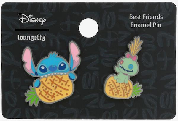 Lilo & Stitch Pineapples Hot Topic Disney Pin Set