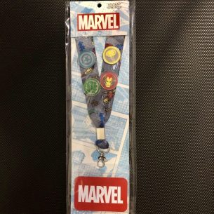 Loungefly x Marvel Cardholder Lanyard Pin Set