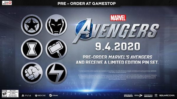 Marvel Avengers Game Limited Edition Pin Set
