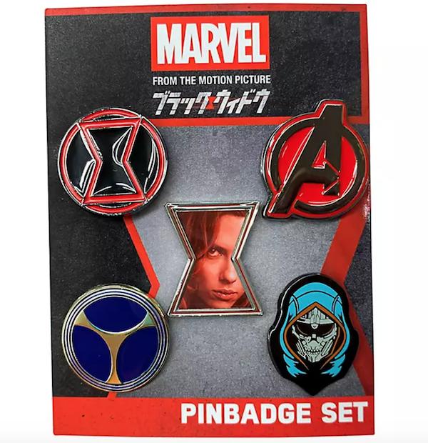 Marvel Black Widow Pin Set at Disney Store Japan
