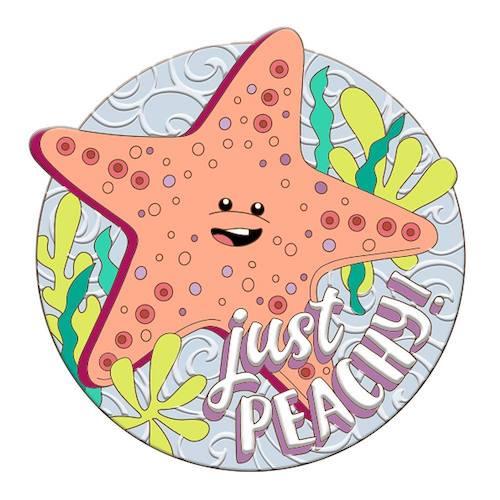 Peach Disney Scents Pin