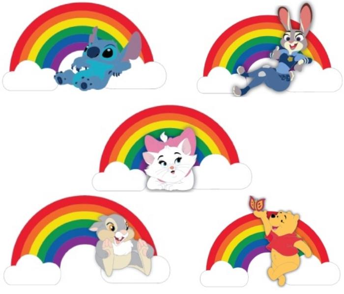 Rainbow Disney Studio Store Hollywood Pins
