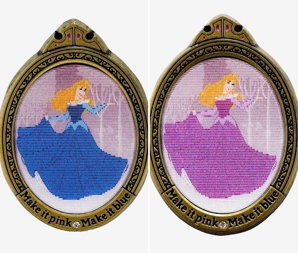 Sleeping Beauty Aurora Dress Lenticular Hot Topic Disney Pin