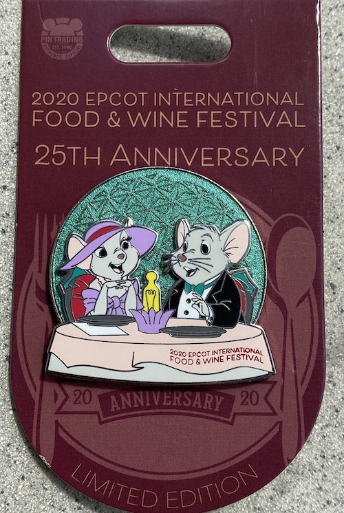 The Rescuers Food & Wine 2020 Pin