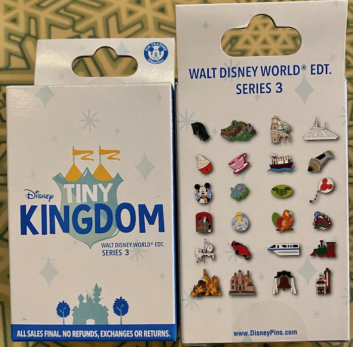 Tiny Kingdom Walt Disney World Series 3 Mystery Pin Collection