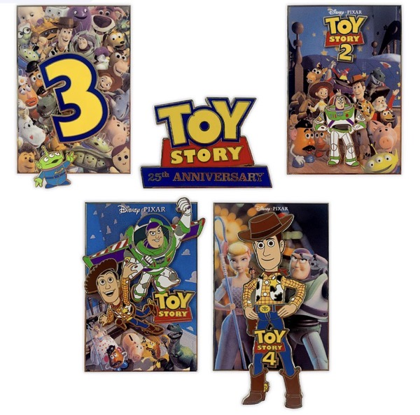 Toy Story 25th Anniversary Limited Edition Pin Set