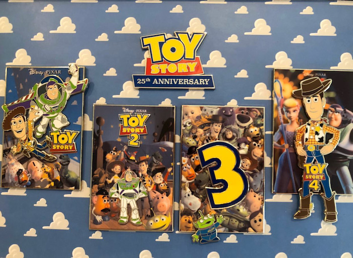 Toy Story 25th Anniversary Pin Set