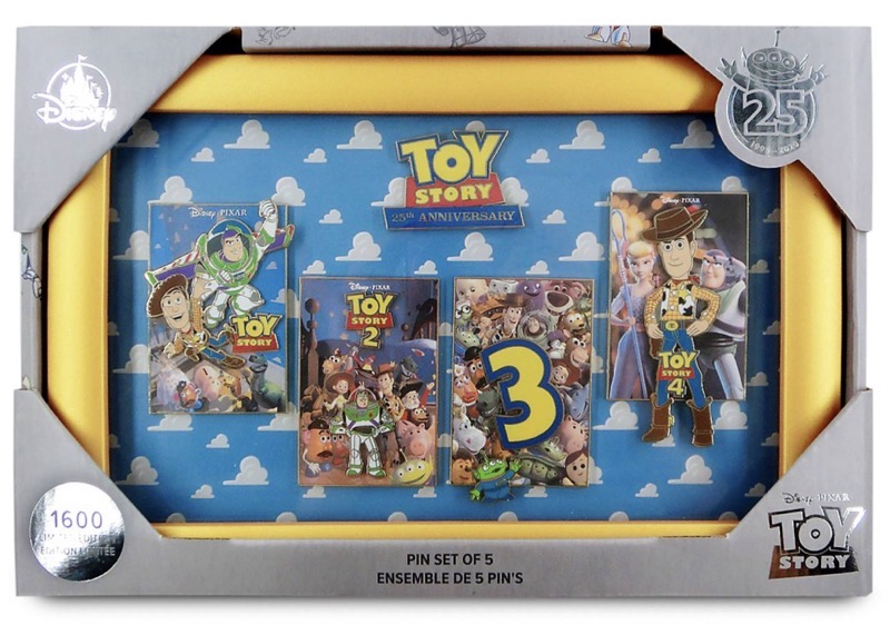 Toy Story 25th Anniversary shopDisney Pin Set