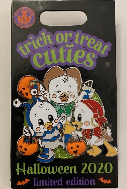 Trick or Treat Cuties - Huey, Dewey & Louie Pin: